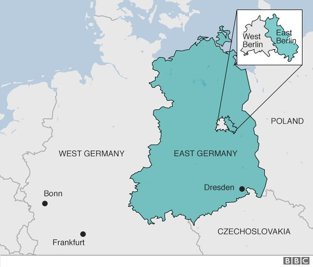 West Germany and East Germany